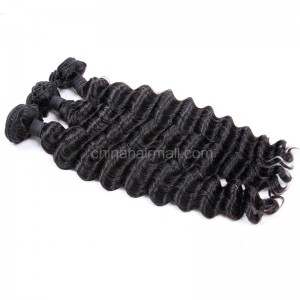 Malaysian virgin unprocessed natural color human hair wefts Milan Curly 3 pieces a lot Hair Bundles 95g/pc [MVMC03]