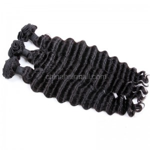 Brazilian virgin unprocessed human hair wefts Milan Curly 3 pieces a lot Hair Bundles 95g/pc [BVMC03]