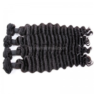 Peruvian virgin unprocessed human hair wefts Natural Color Milan Curly 4 pieces a lot 95g/pc [PVMC04]