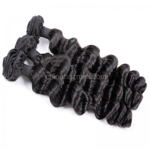 Malaysian virgin unprocessed natural color human hair wefts Romance Curly 3 pieces a lot Hair Bundles 95g/pc [MVRC03]