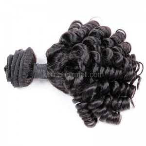 Malaysian virgin unprocessed natural color human hair wefts Spiral Curly Hair Waeve 1 pc a lot 95g/pc [MVSC01]