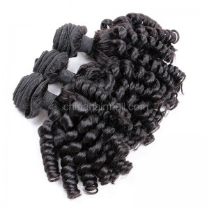 Malaysian virgin unprocessed natural color human hair wefts Spiral Curly 3 pieces a lot Hair Bundles 95g/pc [MVSC03]