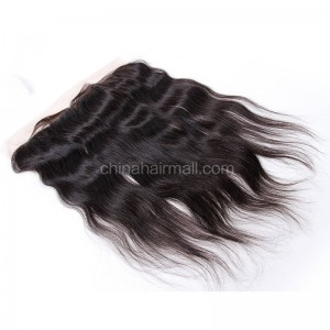 Malaysian Virgin Human Hair 13*4 Popular Lace Frontal Natural Straight Natural Hair Line and Baby Hair [MVNSLF]