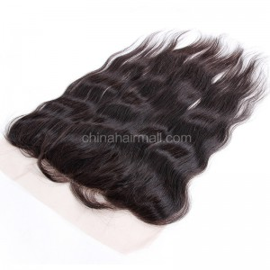 Brazilian Virgin Human Hair 13*4 Popular Lace Frontal Natural Straight Natural Hair Line and Baby Hair [BVNSLF]