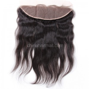 Peruvian Virgin Human Hair 13*4 Popular Lace Frontal Natural Straight Natural Hair Line and Baby Hair [PVNSLF]
