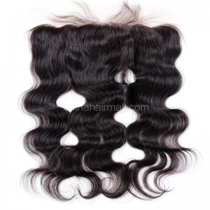 Malaysian Virgin Human Hair 13*4 Popular Lace Frontal Body Wave Natural Hair Line and Baby Hair [MVBWLF]