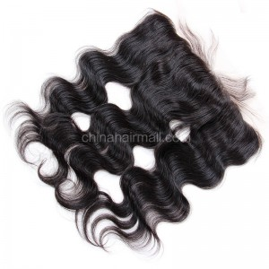 Brazilian Virgin Human Hair 13*4 Popular Lace Frontal Body Wave Natural Hair Line and Baby Hair [BVBWLF]