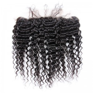 Malaysian Virgin Human Hair 13*4 Popular Lace Frontal Deep Wave Natural Hair Line and Baby Hair [MVDWLF]