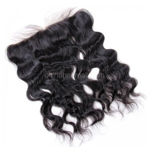 Brazilian Virgin Human Hair 13*4 Popular Lace Frontal Natural Wave Natural Hair Line and Baby Hair [BVNaWLF]