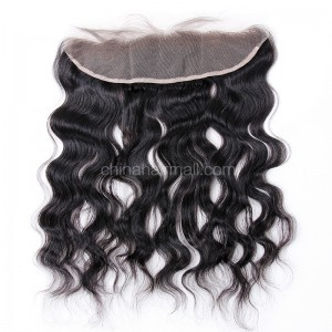 Malaysian Virgin Human Hair 13*4 Popular Lace Frontal  Natural Hair Line and Baby Hair Natural Wave[MVNWLF]