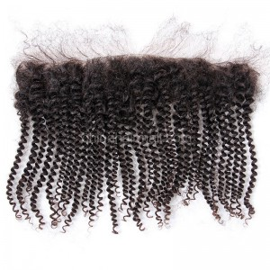 Malaysian Virgin Human Hair 13*4 Popular Lace Frontal Spiral Kinky Curly Natural Hair Line and Baby Hair [MVSKCLF]
