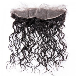 Peruvian Virgin Human Hair 13*4 Popular Lace Frontal 25mm Curly Natural Hair Line and Baby Hair [PV25CLF]