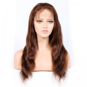 WowEbony Indian Remy Hair Natural Straight Lace Front Wigs [HLLFW07]