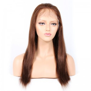 WowEbony Indian Remy Hair Yaki Straight Lace Front Wigs [HLLFW05]
