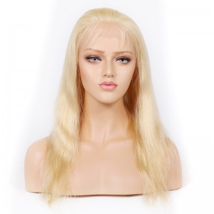 Blonde #613 Color Lace Front Wigs Peruvian Virgin Human Hair Natural Straight [BLLFW03]