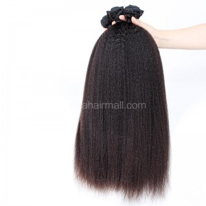 Brazilian virgin unprocessed human hair wefts Kinky Straight 4 pieces a lot  95g/pc  [BVKS04]