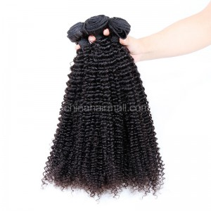 Malaysian virgin unprocessed natural color human hair wefts Kinky Curly 3 pieces a lot 95g/pc [MVKC03]