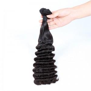 Top Grade 10A Double Drawn Brazilian Virgin Human Hair Weft Wave Posh Curl 1 pc a Lot Unprocessed 100g/pc [DDBVPoC01]