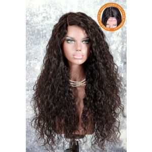 New Designed Indian Remy Hair Glueless Silk Part Lace Wig Left Part [SPLW18]