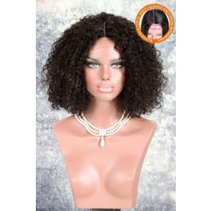 New Designed Indian Remy Hair Glueless Silk Part Lace Wig Left Part [SPLW17]