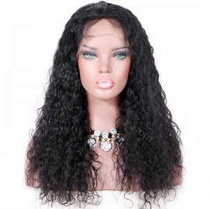 Clearance Sale 20 Inches 5X5 Silk Top Full Lace Wig Indian Remy Hair Color #1 130% Density Medium Cap Size[CFLW44]
