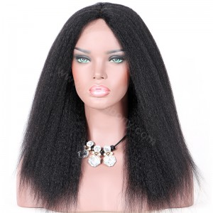 Clearance Sale 14 Inches Silk Part Lace Wig Indian Remy Hair Color #1 130% Density Medium Cap Size[CSPLW01]