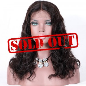 Clearance Sale 14 Inches Lace Part Lace Wig Indian Remy Hair Natural Color 150% density
