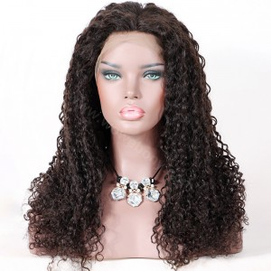 Clearance Sale 22 Inches Full Lace Wigs with Straps and Combs Chinese Virgin Hair Natural Color 150% wig Density