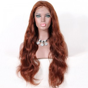 Clearance Lace Front Wig,#33 Color, Brazilian Virgin Hair, 26 inches, 200% Density ,Medium Size Body Wave