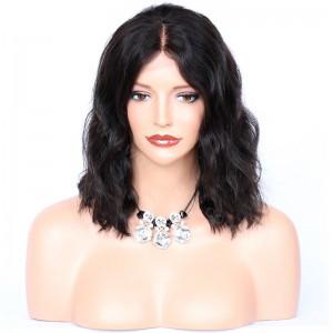 Lace Front Wigs Malaysian Virgin Human Hair Bob Wave