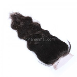 Brazilian Virgin Human Hair 4*4 Popular Lace Closure Natural Wave Natural Hair Line and Baby Hair [BVNWTC]