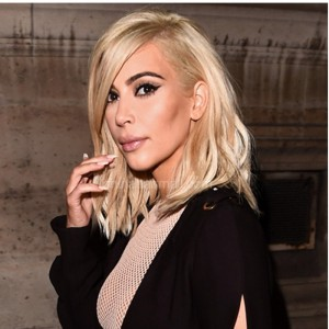 WowEbony Kim Kardashian Inspired Glueless Lace Front Wigs Peruvian Virgin Hair Short Bob Cut Wigs Picture Blonde