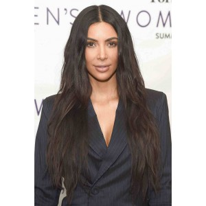 Kim Kardashian Celebrity WowEbony 6 Inches Deep Part Pre-Plucked Natural Wave 360 Lace Wigs 150% density,  Indian Remy Hair 360 Wig Pre-bleached knots