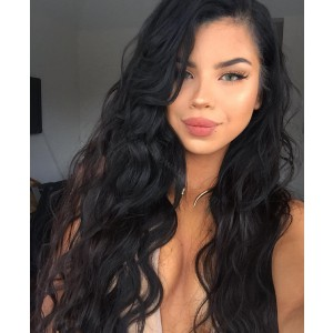 Silk Base Lace Front Wigs Indian Human Hair Loose Wave