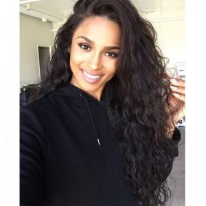 Ciara Style Glueless Lace Front Wigs Brazilian Virgin Human Hair Loose Curl