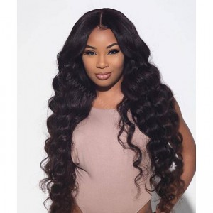 Lace Front Wigs Indian Remy Hair Deep Body Wave