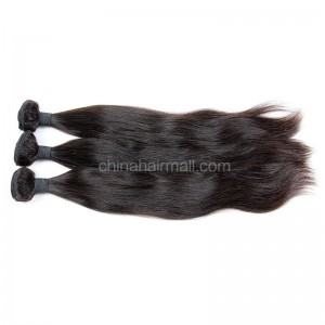 Brazilian virgin unprocessed human hair wefts Natural Straight 3 pieces a lot Hair Bundles 95g/pc [BVNS03]