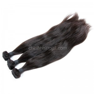 Malaysian virgin unprocessed natural color human hair wefts Natural Straight 3 pieces a lot Hair Bundles 95g/pc [MVNS03]