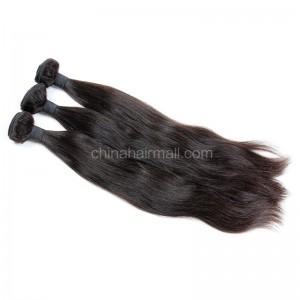 Peruvian virgin unprocessed human hair wefts Natural Color Natural Straight 3 pieces a lot Hair Bundles 95g/pc [PVNS03]
