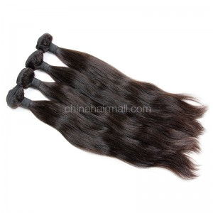 Brazilian virgin unprocessed human hair wefts Natural Straight 4 pieces a lot  95g/pc  [BVNS04]