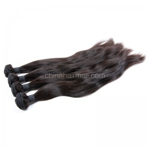 Peruvian virgin unprocessed human hair wefts Natural Color Natural Straight 4 pieces a lot  95g/pc  [PVNS04]