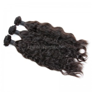 Malaysian virgin unprocessed natural color human hair wefts Natural Wave 3 pieces a lot Hair Bundles 95g/pc [MVNW03]