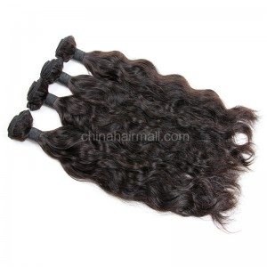 Brazilian virgin unprocessed human hair wefts Natural Wave 4 pieces a lot  95g/pc  [BVNW04]