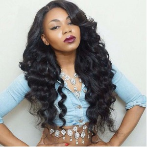 Lace Front Wigs Peruvian Virgin Human Hair Deep Body Wave [LFW050]