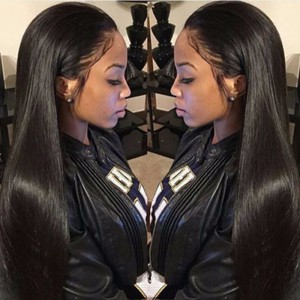 WowEbony Invisible HD Transparent Remy Hair Straight Lace Front Wigs [HDW07]