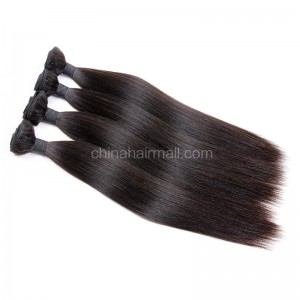 Malaysian virgin unprocessed natural color human hair wefts Yaki Straight 4 pieces a lot  95g/pc  [MVYK04]