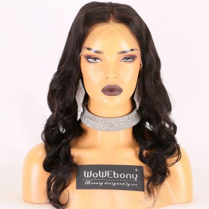 Same Day Shipping Clearance Sale 20 inches Natural Color 130% Density Medium cap size Remy Hair Wavy Full Lace Wig [TH57]