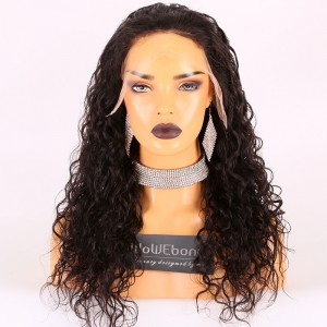 Same Day Shipping Clearance Sale 20 inches  Natural Color 150% Density Medium cap size Virgin Hair Curly 13*6 Lace Front Wig [TH42]