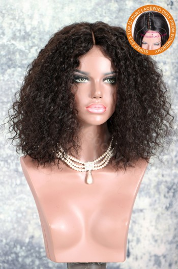 New Designed Indian Remy Hair Loose Wave Glueless Silk Part Lace Wig Middle Part [SPLW14]