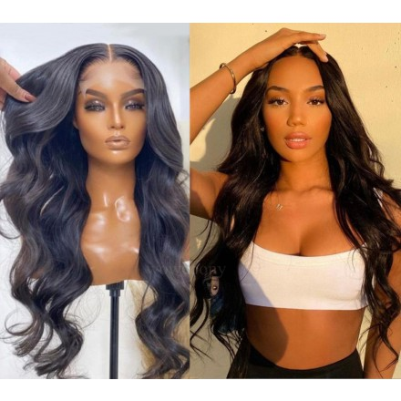 WoWEbony Transparent Invisible HD Lace Remy Hair Super Wavy 360 Lace Wig or Lace Front Wigs [WOW01]